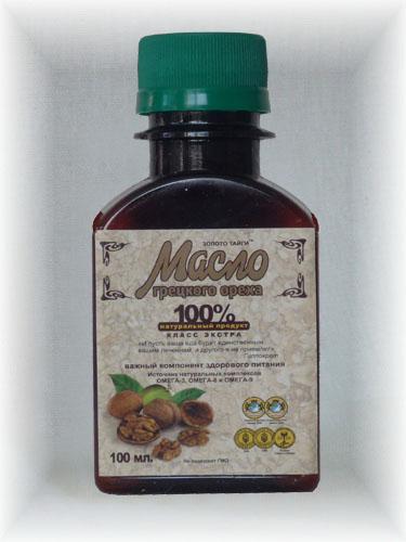 Масло грецкого ореха 100%    100мл